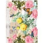 A4 Rice Paper - 447 bright florals